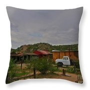 Old Western Backyard Throw Pillow