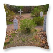Old Western Gravesite Throw Pillow