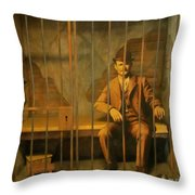 Old Western Jail Throw Pillow