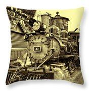 Old Western Railroad Throw Pillow