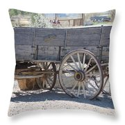 Old Western Wagon Throw Pillow