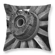 Old Wheel Throw Pillow