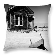 Old Wheelbarrow Throw Pillow