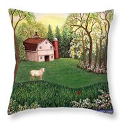 Old White Barn Throw Pillow