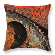 Old Winch Study Throw Pillow