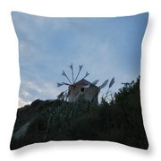 Old Wind Mill 1830 Throw Pillow