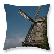 Old Windmill Throw Pillow