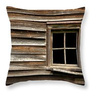 Old Window And Clapboard Throw Pillow