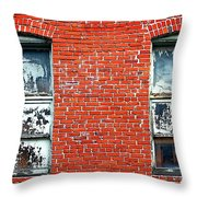Old Windows Bricks Throw Pillow