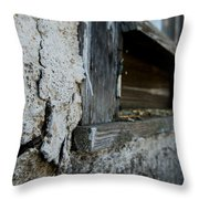 old windowsill cracked up Streetman Texas Throw Pillow