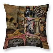 Old Wine Throw Pillow