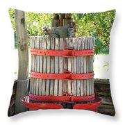 Old Wine Press Throw Pillow