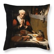 Old Woman At Prayer Throw Pillow