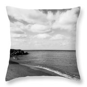 Old Woman Creek - Black And White 2 Throw Pillow
