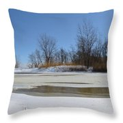 Old Woman Creek - Day After The Storm Throw Pillow