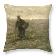 Old Woman On The Heath Throw Pillow
