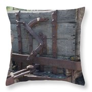 Old Wood  Mining Ore Car Throw Pillow