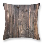 Old Wood Shack Exterior Background Throw Pillow