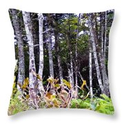 Old Wood Stand Painterly Style Throw Pillow