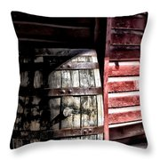 Old Wooden Barrel Throw Pillow