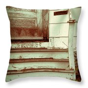 Old Wooden Porch Throw Pillow