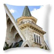 Old Wooden Victorian Chapel Church Steeple Fine Art Landscape Photography Print Throw Pillow