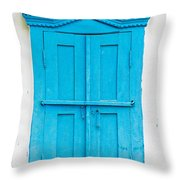 Old Wooden Window Throw Pillow