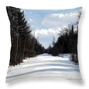 Old Woods Road Throw Pillow