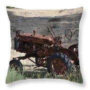Old Work Horse Throw Pillow