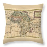 Old World Map Of Africa Throw Pillow