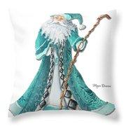 Old World Style Turquoise Aqua Teal Santa Claus Christmas