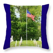 Old Yard Cemetery In Stowe Vermont Throw Pillow
