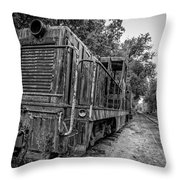 Old Yard Switcher Engine Valley Railroad Throw Pillow