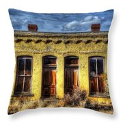 Old Yellow House In Buena Vista Throw Pillow