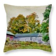 Olde Homestead On Rt 105 Throw Pillow