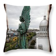 Olde Montreal Angel Throw Pillow by Alice Gipson
