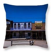 Olde Strip Mall Throw Pillow