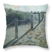 Olde Worlde Beach Throw Pillow