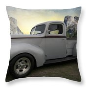 Older Classic Truck Throw Pillow