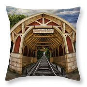 Oldest Steamtrain Station San Francisco Throw Pillow