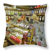 Oldest Sweet Shop In The World Throw Pillow