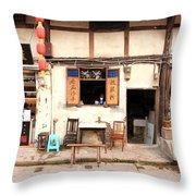 Old Chongqing Throw Pillow