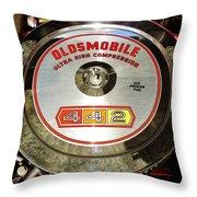 Oldsmobile 442 Throw Pillow
