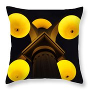 Old Tampa Lights Color Work One Throw Pillow
