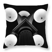 Old Tampa Light Black And White Throw Pillow