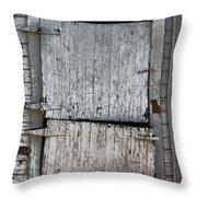 Ole Barn Door Throw Pillow