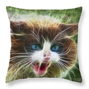Ole Blue Eyes - Square Version Throw Pillow