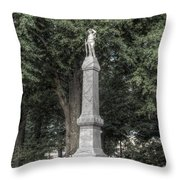 Ole Miss Confederate Statue Throw Pillow