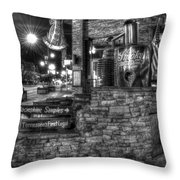 Ole Smoky Tennessee Moonshine In Black And White Throw Pillow