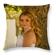 Olga 5 Throw Pillow